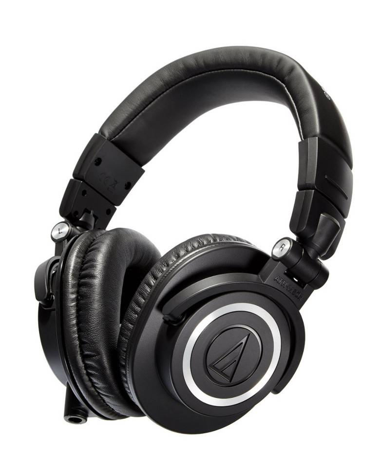 Audio-Technica ATH-M50x Over-Ear Professional Studio Monitor Headphone zoom image