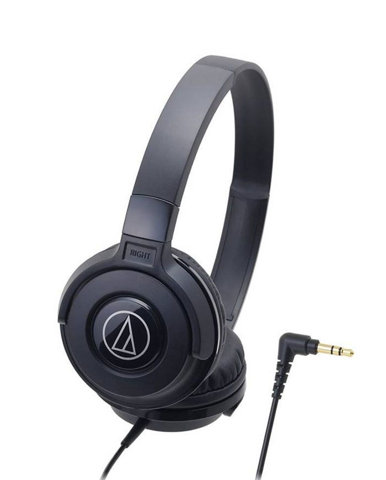 Audio Technica ATH-S100 BK On-Ear Steet Monitoring Portable Headphones zoom image