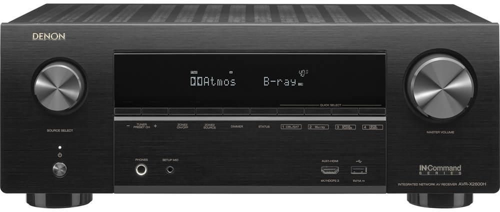 Denon AVR-X2600H 7.2-Channel Home Theater Receiver with Wi-Fi, Bluetooth, Apple AirPlay 2, and Amazon Alexa Compatibility zoom image