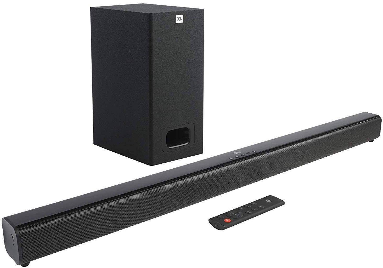 JBL Cinema SB130 2.1 Channel Soundbar With Wired Subwoofer (110W, Dolby Digital, Extra Punchy Bass) zoom image