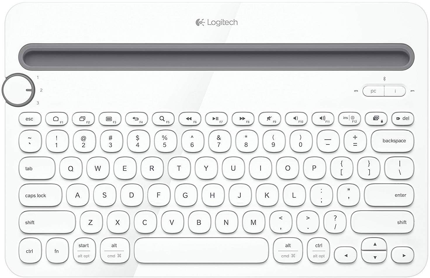 Logitech K480 Multi Device Bluetooth Keyboard zoom image