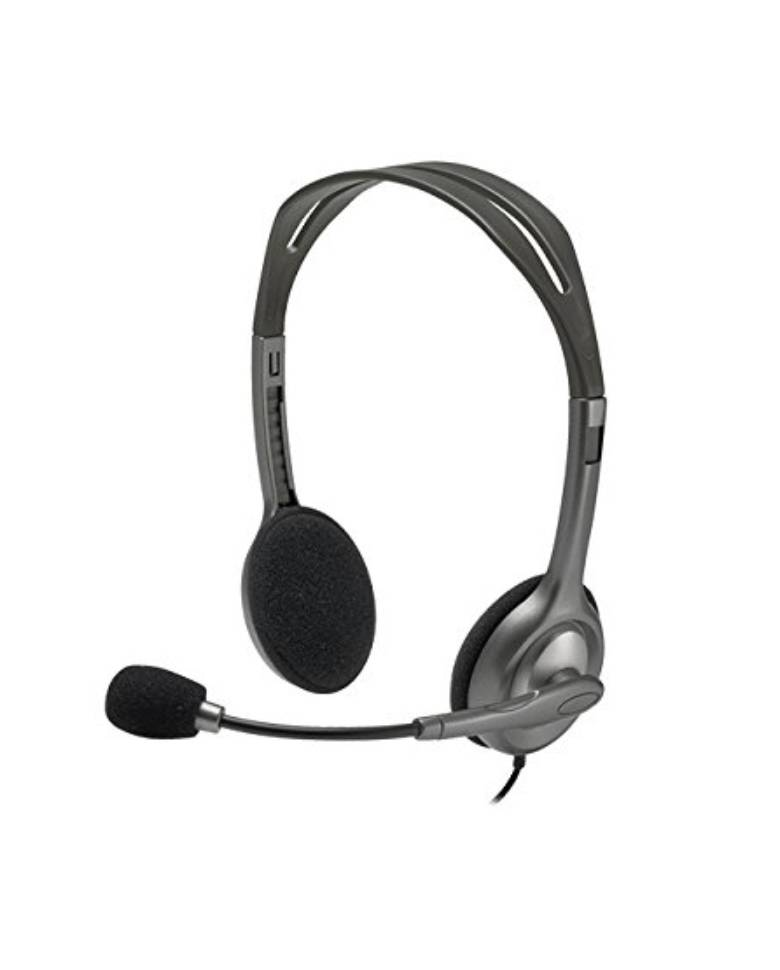 Logitech H111 Stereo Headset with Noise Cancelling Mic zoom image