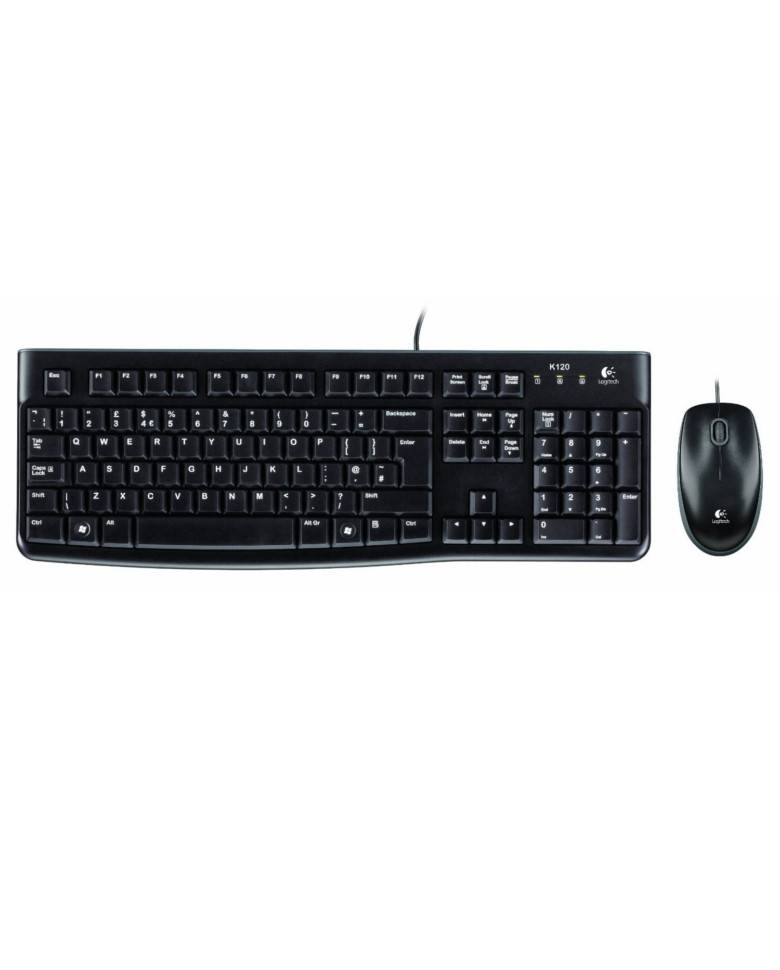 Logitech MK120 Keyboard & Mouse Combo (Black) zoom image