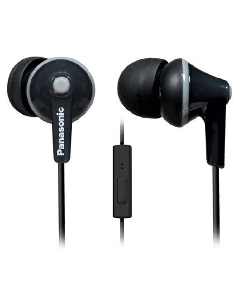 Panasonic ErgoFit RP-TCM125-K In-Ear Headphones with Mic zoom image