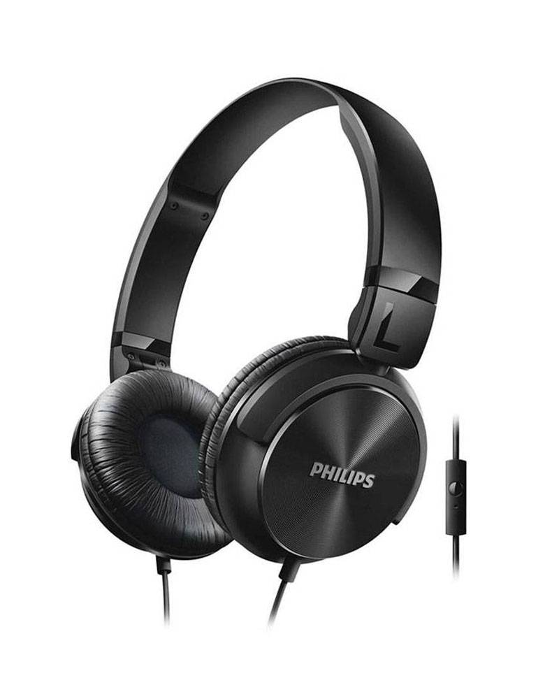 Philips SHL3095BK On-Ear Headphones with Mic zoom image