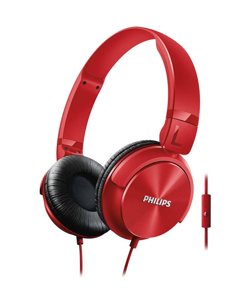 Philips SHL3095BK On-Ear Headphones with Mic zoom image