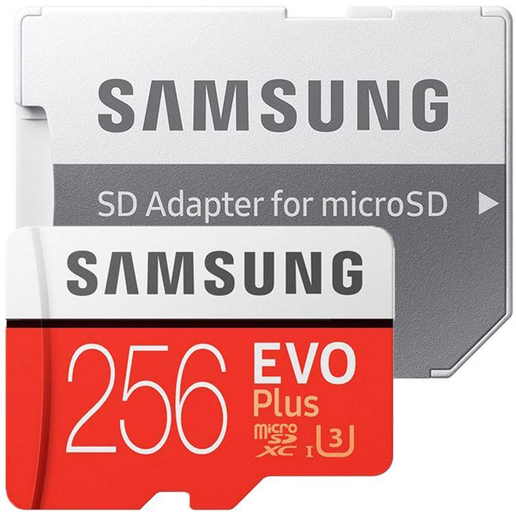 Samsung 256GB EVO Plus  MicroSD Card MB-MC256GA/IN 100 MB/s with Adapter zoom image