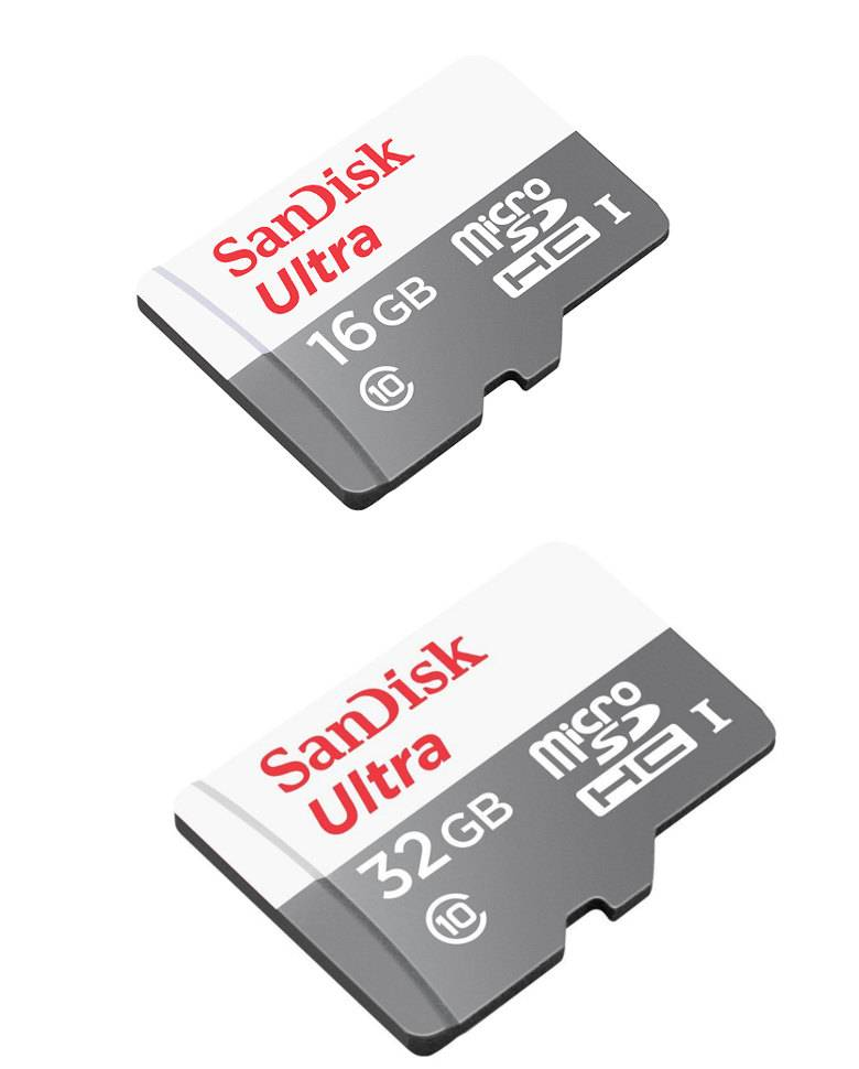 Sandisk 16GB and 32GB Ultra MicroSD Class 10 Memory Cards Combo zoom image