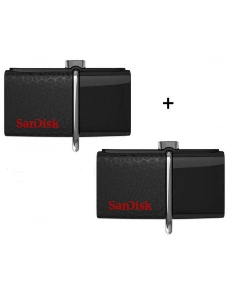 Sandisk Ultra Dual Otg 32GB USB 3.0 Pen Drive Combo (2 Pcs) zoom image