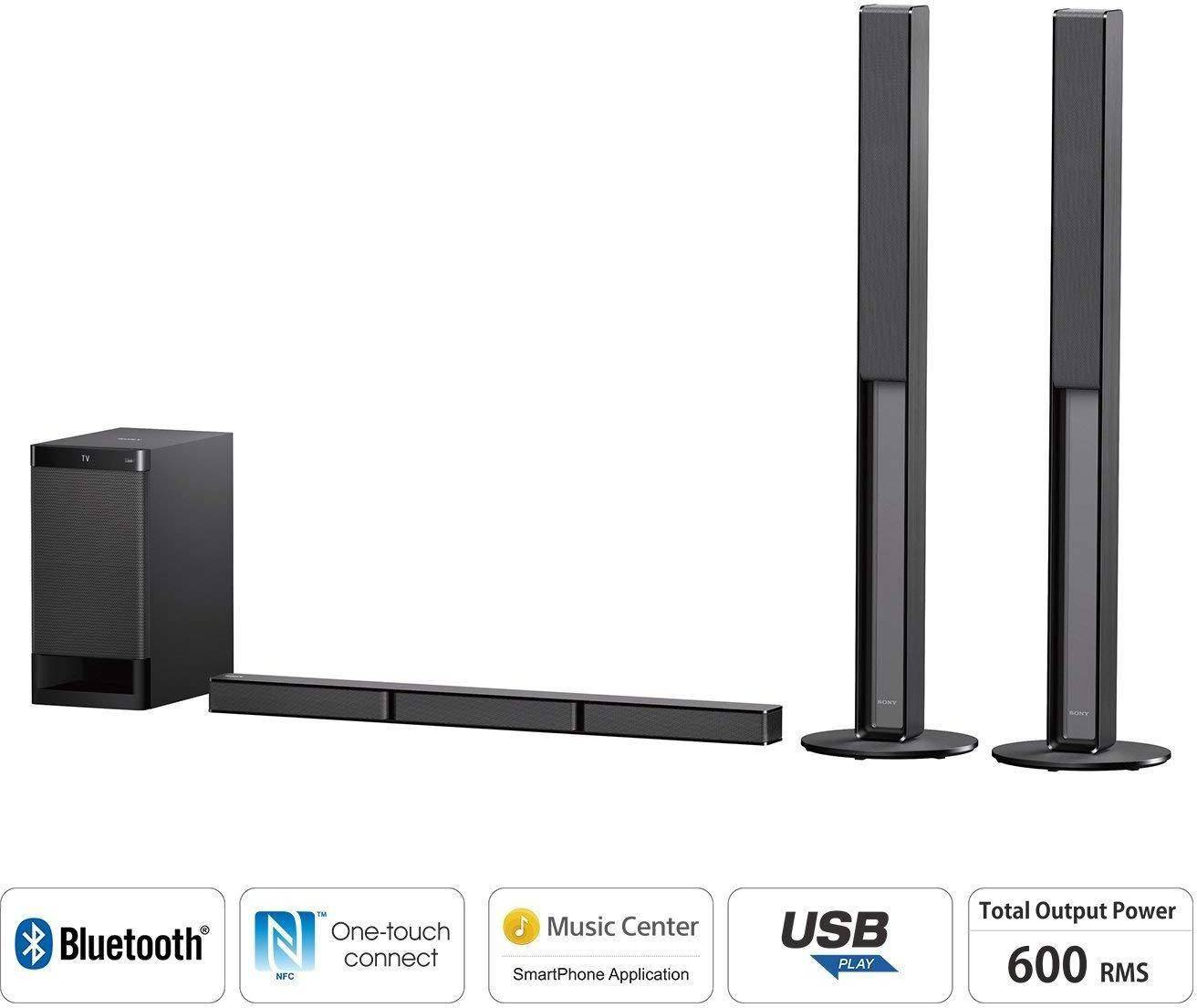 Sony HT-RT40 Real 5.1ch Dolby Digital Big Soundbar Home Theatre System zoom image