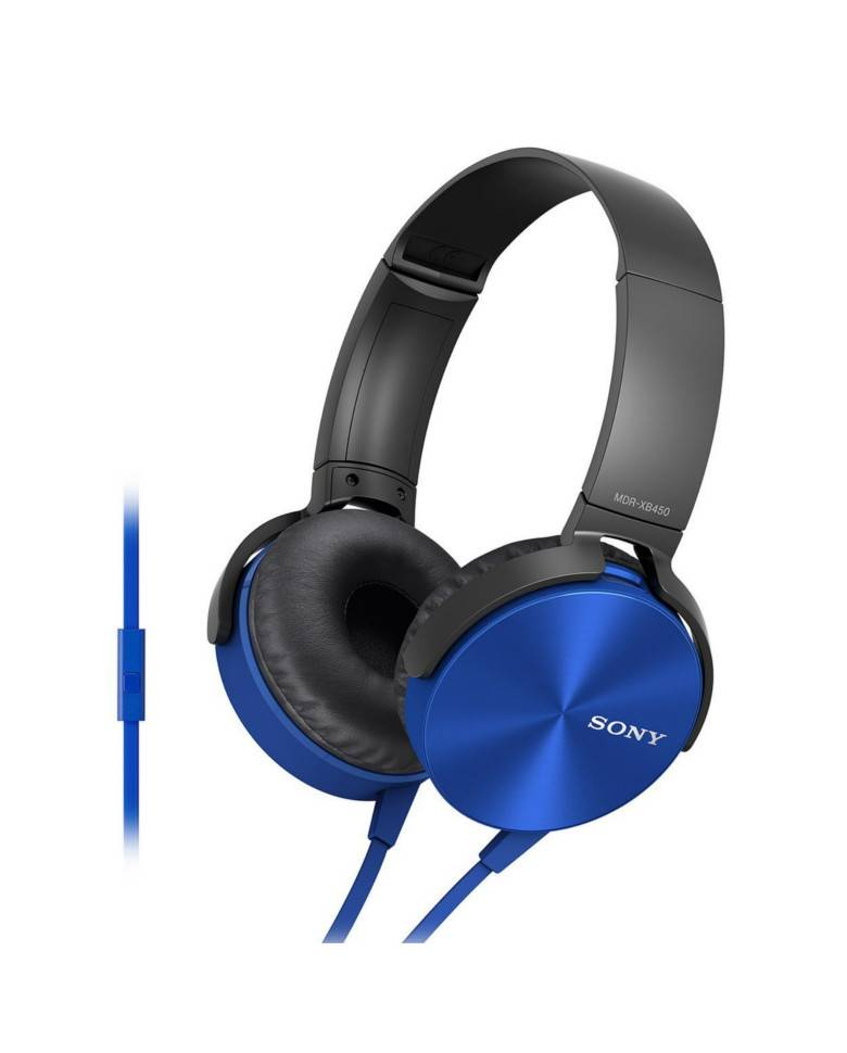 Sony MDR-XB450AP On-Ear EXTRA BASS Headphones with Mic zoom image