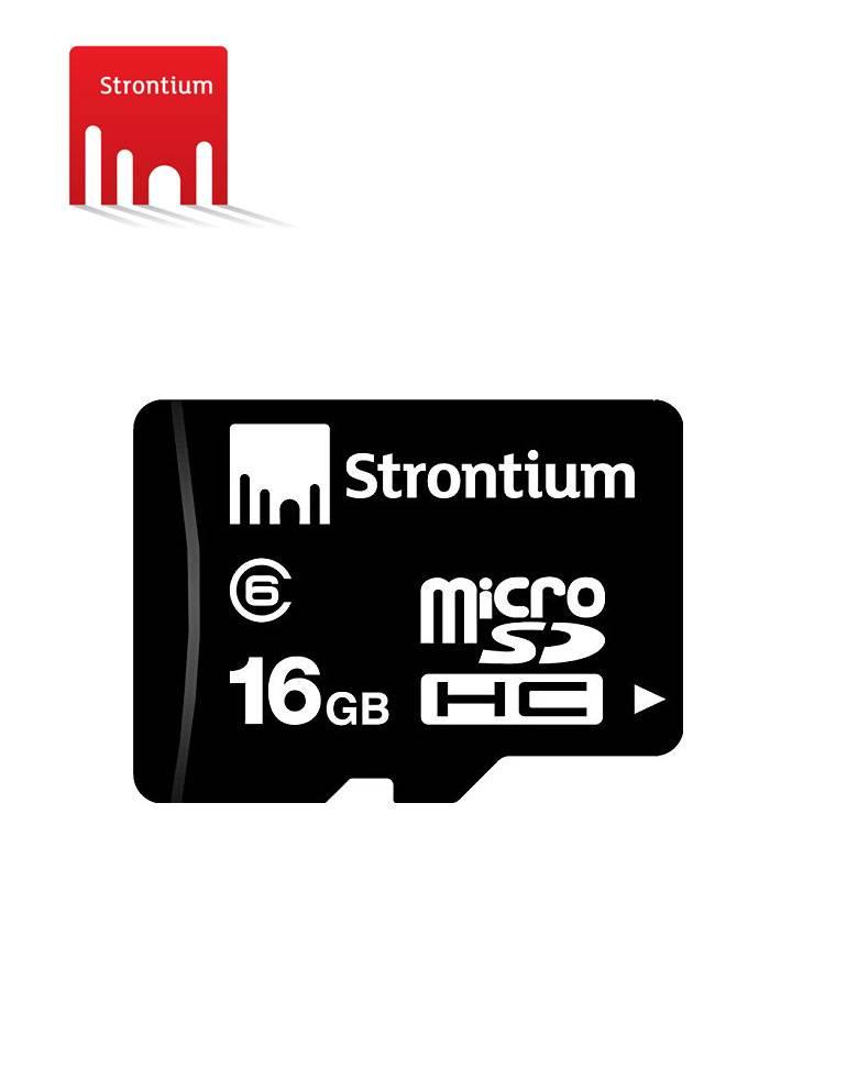 Strontium 16GB MicroSDHC Class 6 Memory Card  zoom image