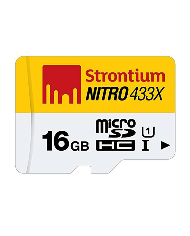 Strontium Nitro 16GB MicroSD Memory Card Class 10 65Mbps Speed zoom image
