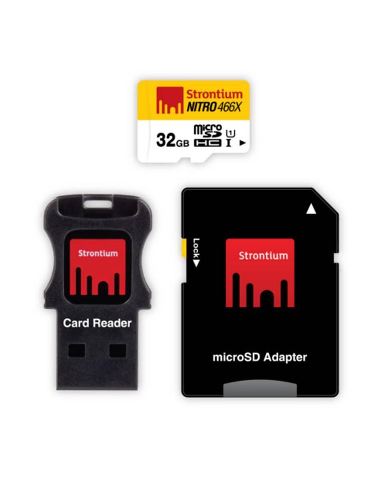 Strontium Nitro 32GB 70MB/s UHS-1 Class 10 MicroSHDC Memory Card zoom image