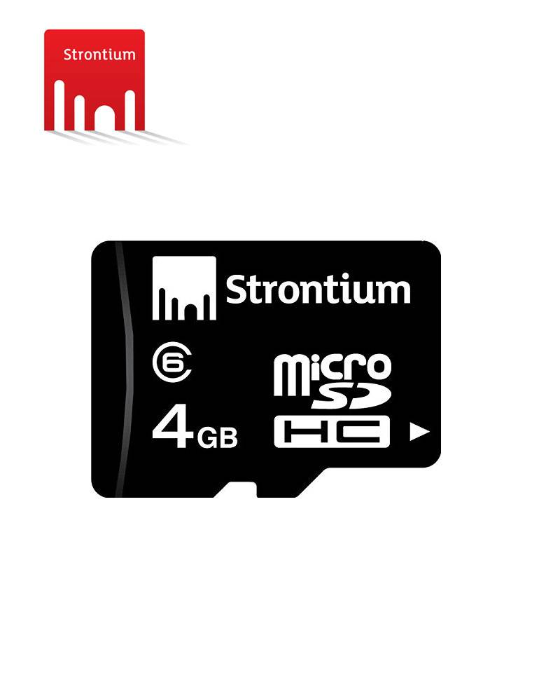Strontium 4GB MicroSDHC Class 6 Memory Card  zoom image