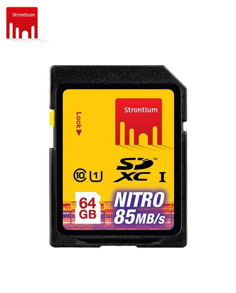 Strontium NITRO 64GB SDHC NITRO 433X Memory Card zoom image