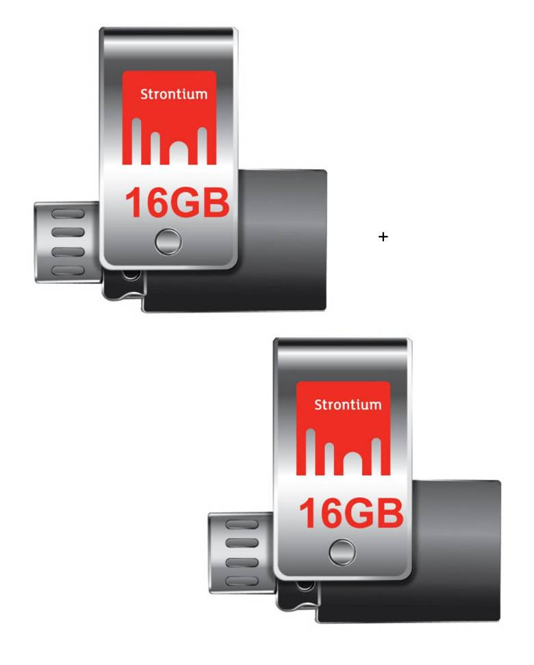 Strontium Nitro Plus 16GB USB 3.0 OTG Pen Drives Combo (2 Pcs) zoom image