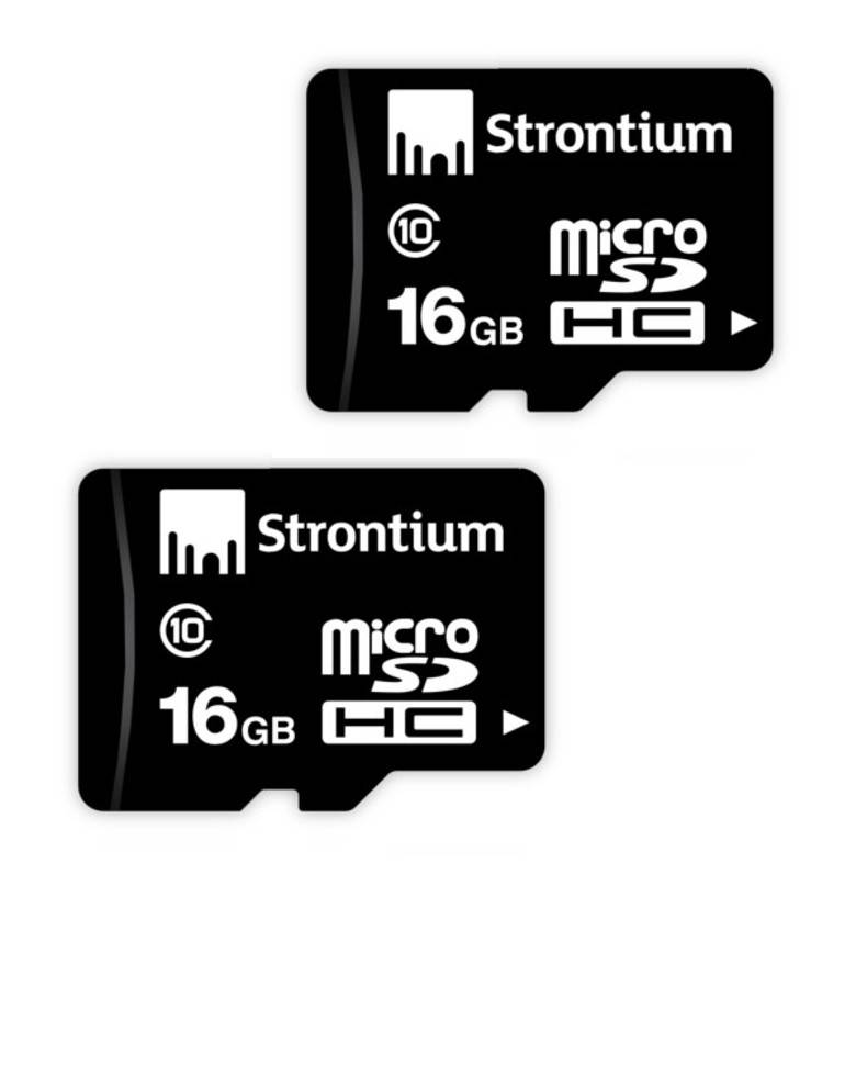Strontium 16GB MicroSD Memory Card Class 10 (Combo of 2) zoom image