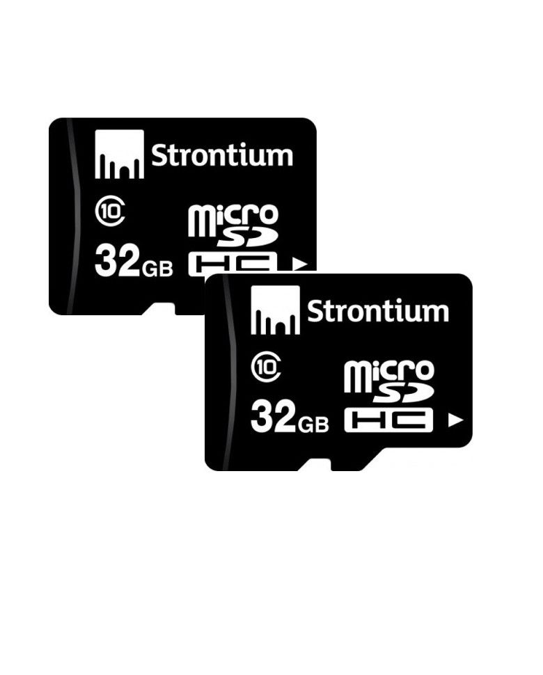 Strontium 32GB MicroSDHC Memory Card Class 10 Combo (2 Pcs) zoom image