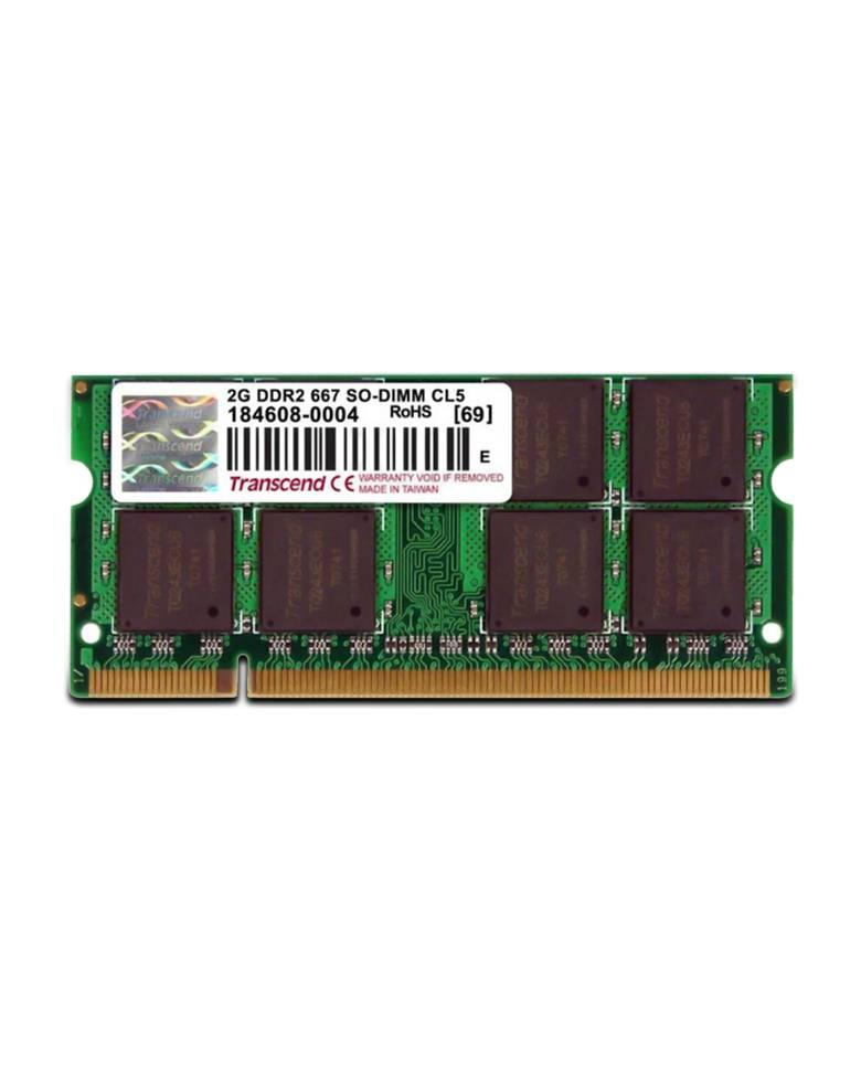 Transcend DDR2 2GB PC2-6400Mhz JM800QSU Laptop Memory  zoom image