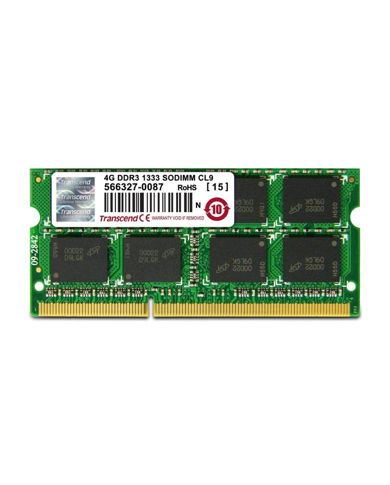 Transcend DDR3 1333MHZ 4GB SO-DIMM Memory Module For Laptop zoom image