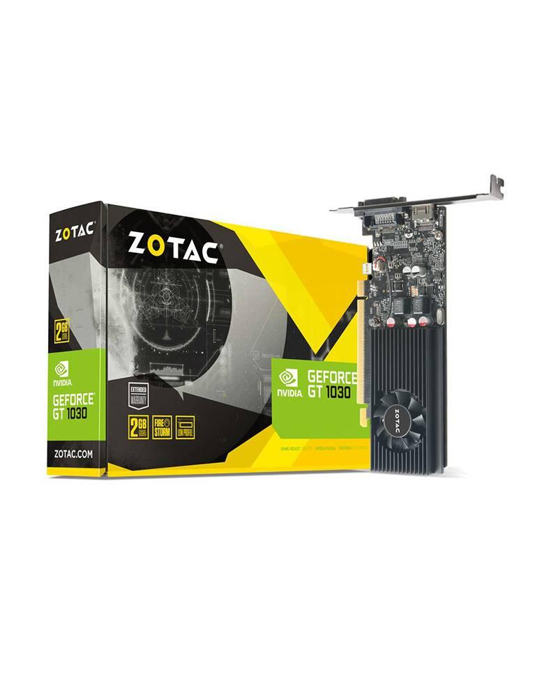 ZOTAC GeForce® GT 1030 2GB GDDR5 HDMI/DVI Low Profile Graphics Card (ZT-P10300A-10L) zoom image